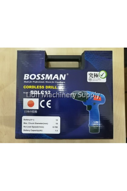 BOSSMAN BDLC12 12V Lithium-lon Cordless Drill Battery Drill Driver - 2 Batteries