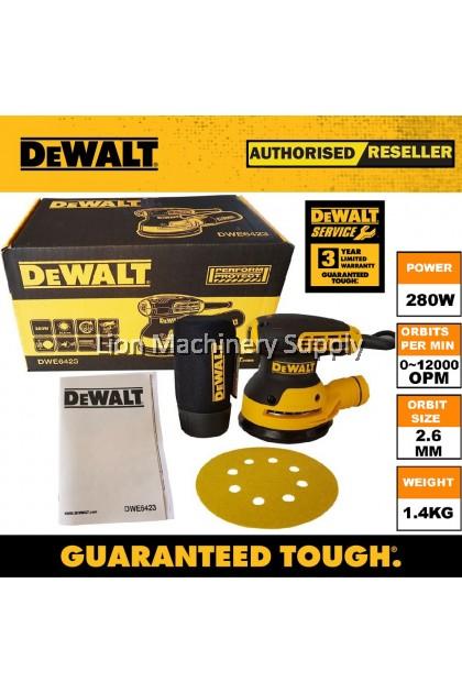 """DEWALT DWE6423 280W 5"""" / 125mm Orbital Sander - 3 Year Limited Warranty -"""