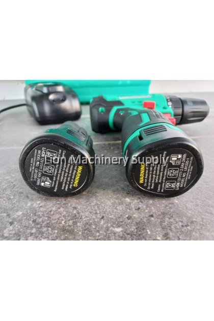 DCA 12V 2.0Ah CORDLESS BRUSHLESS DRIVER DRILL ADJZ23-10 - With 2pcs Batteris & 1pc Base Charger - 6 Months Warranty -