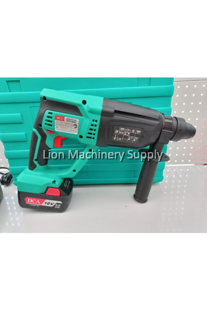 DCA 18V 24mm Cordless Brushless Hammer Drill ADZC02-24E with Powerful impact rate - Included 2pcs 4.0Ah batteries -