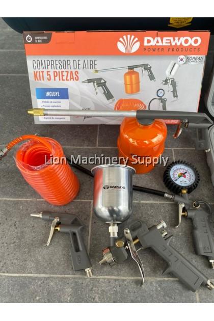 "Asaki 2hp 88Litre Belt Driven Air Compressor LC8820SS C/W 5pcs air tools kit & 1/2"" Twin hammer Impact Wrench kits"
